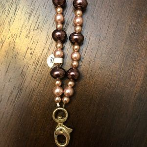 Jewelry - Handmade beaded lanyard with silver clasp